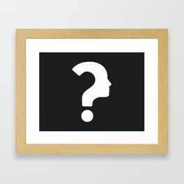 Human Face With Question Mark Framed Art Print