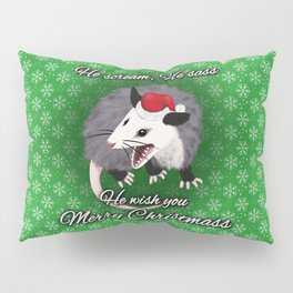 Christmas Opossum Pillow Sham