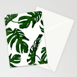 Simply Tropical Palm Leaves in Jungle Green Stationery Cards
