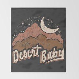DESERT BABY Throw Blanket