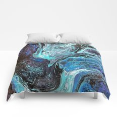Blue Explosion Comforters