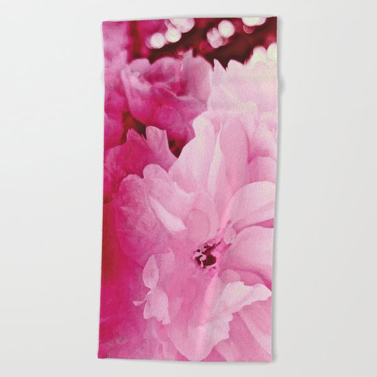 Plum Blossoms-Flowering For No One, No Reason Beach Towel