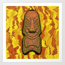 Mean Face Tiki Art Print