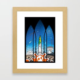 The Window of Opportunity - stained glass window print Framed Art Print