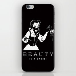 Beauty is a Bandit iPhone Skin
