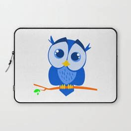 Sweet Little Blue Owl Laptop Sleeve