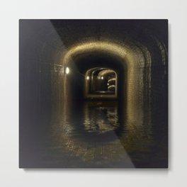 Flooded Tunnel Metal Print