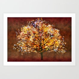 Starry Tree Art Print
