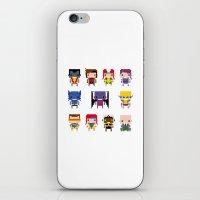 x men iPhone & iPod Skins featuring Pixel X-Men by PixelPower
