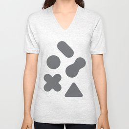 Buttons Unisex V-Neck