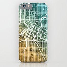 Minneapolis Minnesota City Map iPhone Case