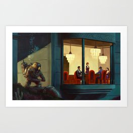 Poker Players Art Print