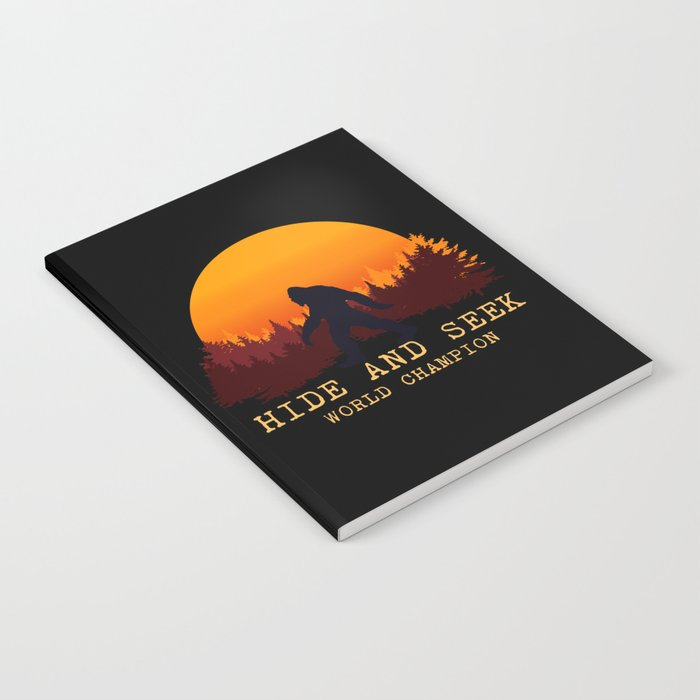 9d6af1b2 Bigfoot - Hide and Seek World Champion Notebook by greennatural ...