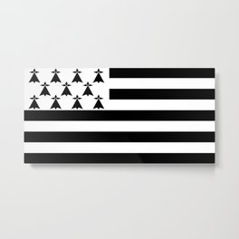 Flag of brittany Metal Print