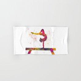 Rhythmic gymnastics competition in watercolor 05 Hand & Bath Towel