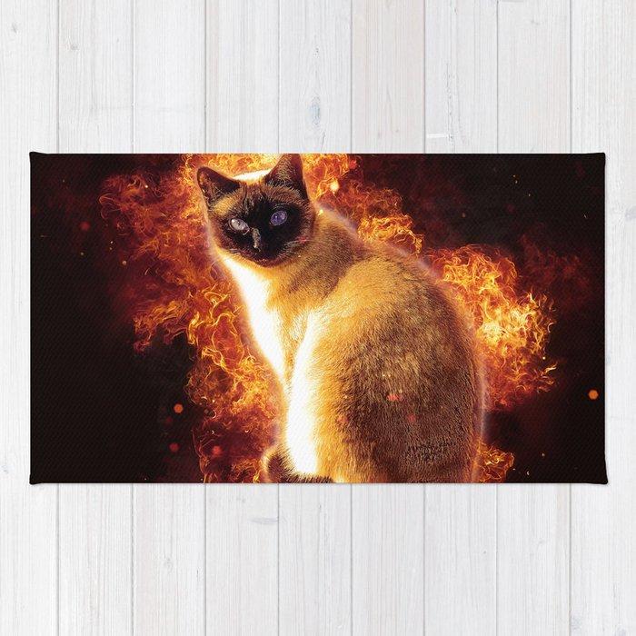 Flame Cat Rug