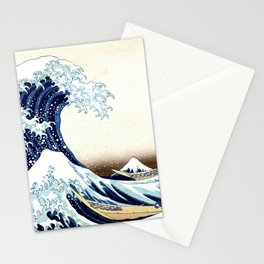 The Great Wave off KanagawA muted Stationery Cards