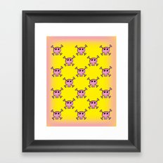 Pink Lemonade Punk Skulls Framed Art Print