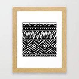 African Mud Cloth // Black Framed Art Print