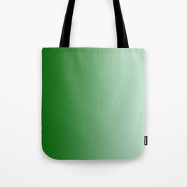 Green to Pastel Green Vertical Linear Gradient Tote Bag