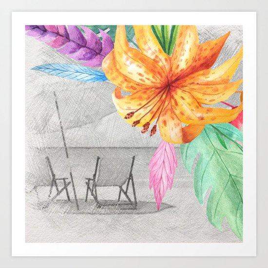 Tropical beach #3 Art Print