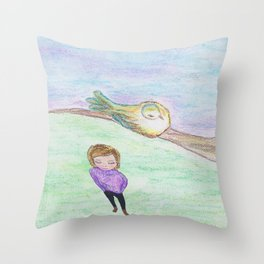 His Eyes Are On the Sparrow and Me Throw Pillow