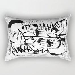 Personal Angel - b&w Rectangular Pillow
