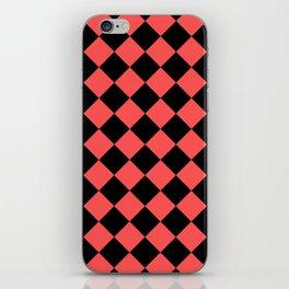 Rhombus (Black & Red Pattern) iPhone Skin
