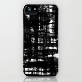 SCRATCH TEXTURE BLACK iPhone Case