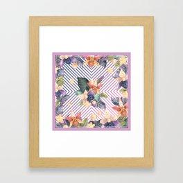 Purple in the Summer Framed Art Print