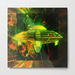 UFO Into Reality by Raphael Terra Metal Print
