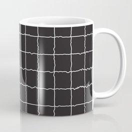 Black and White Grid 1 Coffee Mug