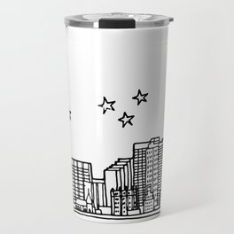 Oklahoma City, Oklahoma City Skyline Illustration Drawing Travel Mug