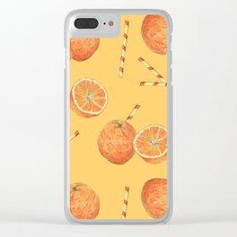 orange juice _ light Clear iPhone Case