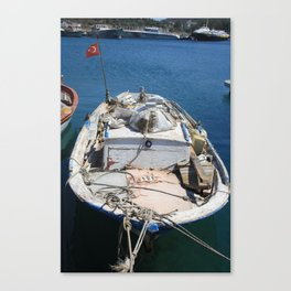 Moored Fishing Boat Canvas Print