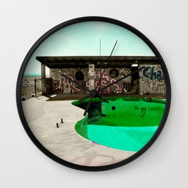 Chaos Poolside Wall Clock