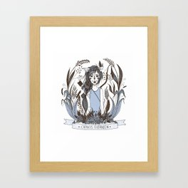 Catniss Evergreen Framed Art Print