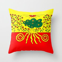 Tentacled tree Throw Pillow