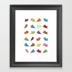 Humming Birds Framed Art Print