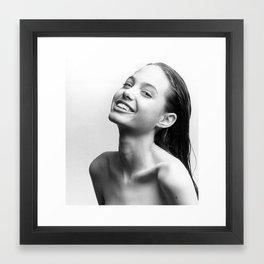 Young Angelina Jolie Framed Art Print