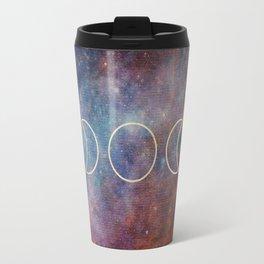 Moon Phases Rose Gold Mandala Travel Mug