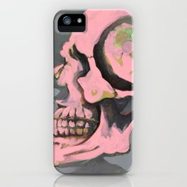 Study of Pink Skull iPhone Case