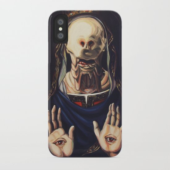 Pale Man With Crown iPhone Case