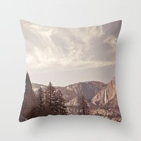 yosemite Throw Pillows featuring yosemite by illustratographer