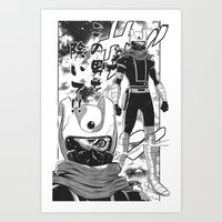 manga Art Prints featuring Manga 04 by Zuno