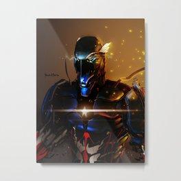 Captain America Cyber Evolution Fan Art Metal Print