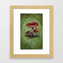 Magic Mushroom - Toadstools | Watercolor Painting Framed Art Print