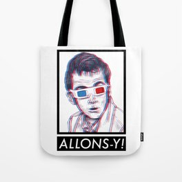 10th Doctor 3D Glasses Tote Bag
