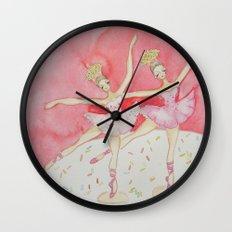 Cupcake Ballerinas Confetti Wall Clock