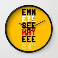 Mickey on Yellow Wall Clock